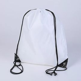 China Trainning White Drawstring Backpack , Waterproof Large Drawstring Sports Bag supplier