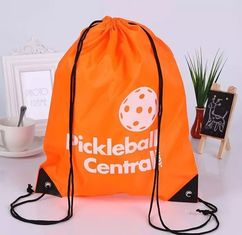 China Eco Friendly Orange Sports Drawstring Backpacks For Athlete Packing And Fitting supplier