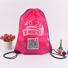 China Boys Recycled Sports Drawstring Backpacks For Basketball And Football supplier
