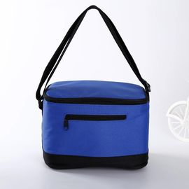 China Sublimation Printed Insulated Beer Cooler Bags , Blue 6 Pack Insulated Cooler Bag supplier
