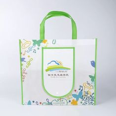China Eco Friendly Green Foldable Tote Bag With Snap Closure Offset Printing supplier