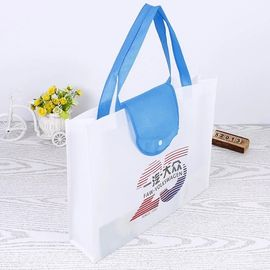 China Collapsible Recycle Foldable Shopping Bag / Blue Folding Grocery Bags supplier