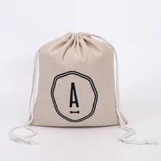 China Elegant Mini Cotton Canvas Drawstring Bag With Digital Imprint Silk Screen supplier