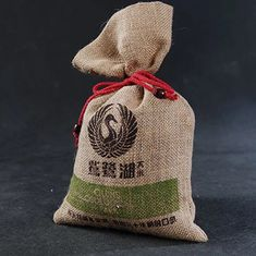 China Reusable Cotton Drawstring Bags Bulk / Economical Plain Canvas Drawstring Bags supplier