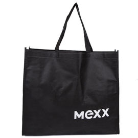China Grocery Black Polypropylene Tote Bags Water And Weather Resistance Feature supplier