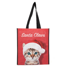 China Logo Printed Polypropylene Reusable Grocery Bag With A Cute Cat On The Surface supplier