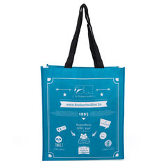 China Water Resistant Polypropylene Tote Bags With Laminated Full Color Printing supplier