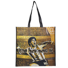 China Natural Yellow Polypropylene Tote Bags With Heat  - Transfer Printing supplier