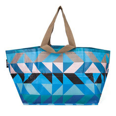 China Handled Blue Polypropylene Tote Bags For Shopping And Promotion Silk Screen supplier
