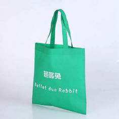 China Green Handled Non Woven Fabric Shopping Bags Heat - Transfer Printing supplier