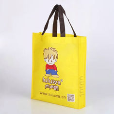 China Long Rope Non Woven Polyester Tote Bags , Foldbale Non Woven Goodie Bag supplier