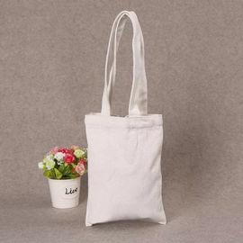 China Printed Shopping Cotton Canvas Bag , Custom Logo White Cotton Tote Bag supplier