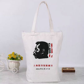China Natural Foldable Cotton Canvas Tote Bags For Library Souvenir Packing supplier