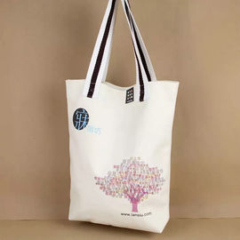 China Embroidered Cotton Canvas Tote Bags Single Tree On The Surface Offset Printing supplier