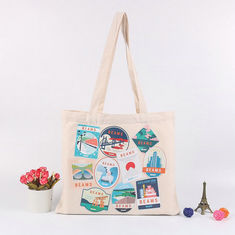China Recycled Shoulder Embroidered Canvas Tote Bags With Digital Offset Printing supplier