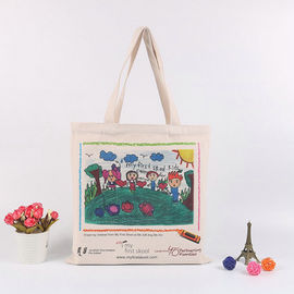 China Handheld Personalised Canvas Tote Bags / Custom Made Promotional Cotton Tote Bags supplier