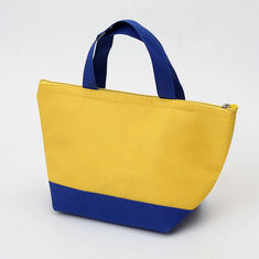 China Eco Friendly Yellow Canvas Tote Bag / High Strength Large Canvas Shopping Bags supplier