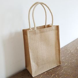 China Long Rope Reusable Jute Shopping Bags / Elegant Jute Monogram Tote Bag supplier