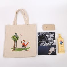 China Handled Cotton Canvas Tote Bags supplier