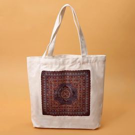 China Brown And White Branded Promotional Bags / Durable Promotional Items Bags supplier