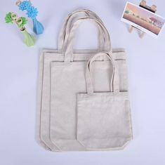 China Wear Resistant Cotton Promotional Gift Bags With Laminated Full Color Printing supplier