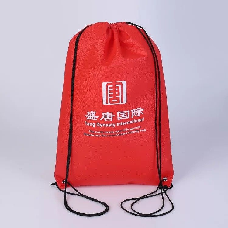 7ad79fdda9 China Offset Printing Red Sports Drawstring Backpacks With Cotton Canvas  Material supplier