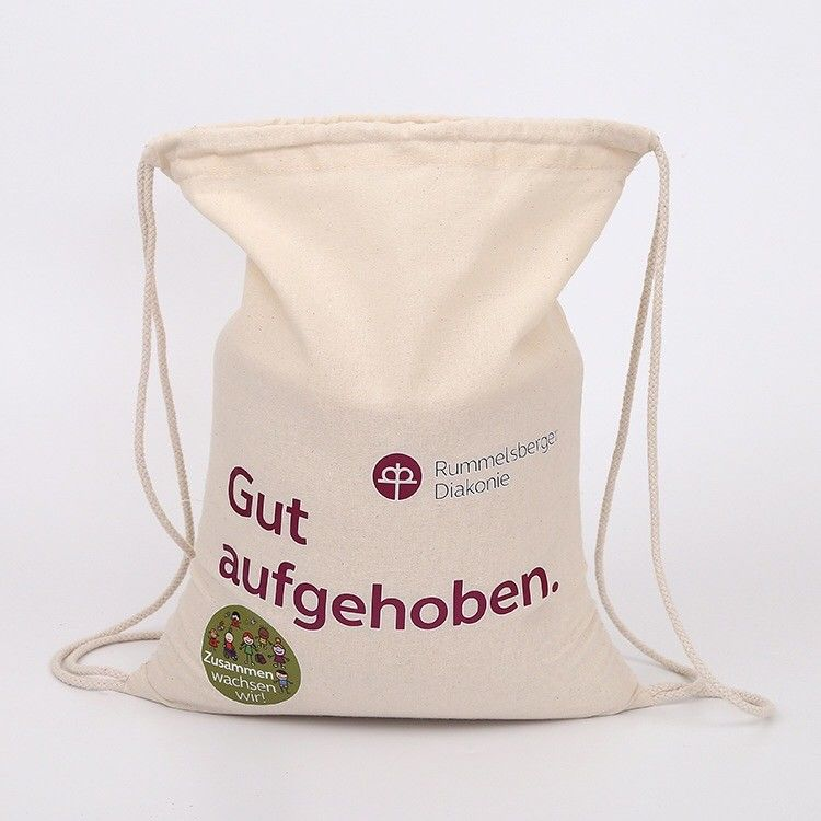 blank cotton drawstring bags personalized small fabric bags with