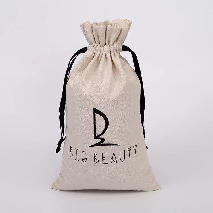 Small Custom Canvas Drawstring Bags