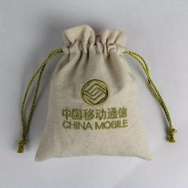 China Eco Friendly Cotton Canvas Drawstring Bag For Shopping Silk Screen Printing factory