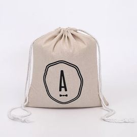 China Elegant Mini Cotton Canvas Drawstring Bag With Digital Imprint Silk Screen factory