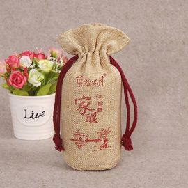 China Yellow Canvas Drawstring Bags / Mini Personalised Cotton Drawstring Bags factory