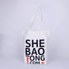 China Small Black And White Canvas Tote Bag / 10oz Luxury Personalized Tote Bags factory