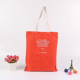 China Logo Printed Cotton Canvas Tote Bags For Supermarket Packing And Shopping factory