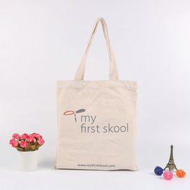 China Handled Personalised Canvas Tote Bags / Custom Made Promotional Cotton Tote Bags factory