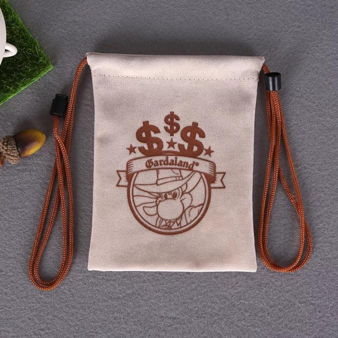 Customized Size Cotton Canvas Drawstring Bag With Heat Transfer Printing