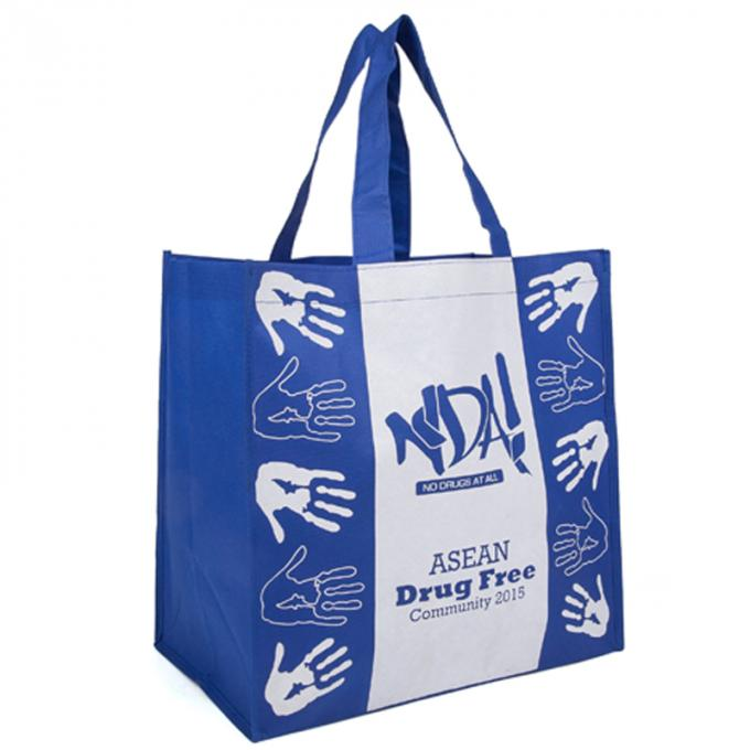 Waterproof Polypropylene Reusable Bags / Wear Resistant Poly Tote Bags