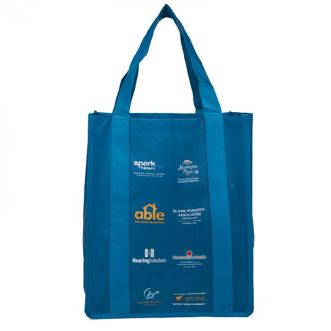 Silk Screen Printing Polypropylene Tote Bags Customized Logo And Size