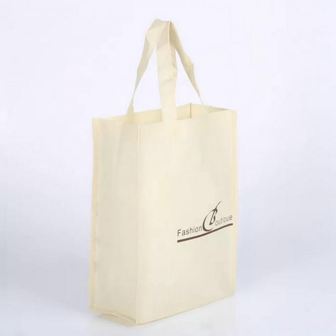 Elegant Durable Non Woven Fabric Bags For Supermarket Wash In Cold Water
