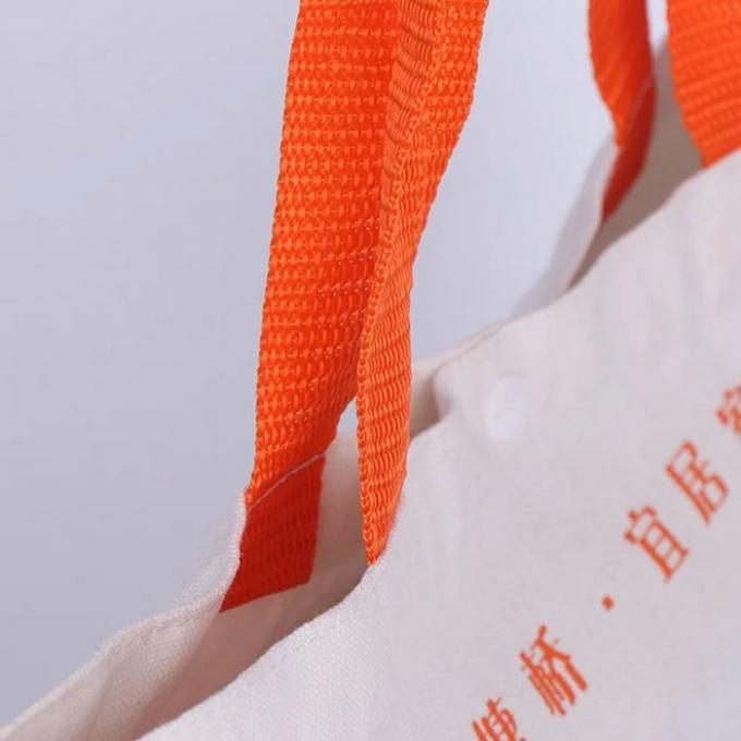Promotional 100% Cotton Canvas Tote Bags Bulk Laminated Full Color Printing