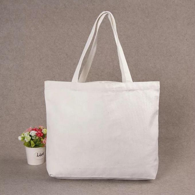 Long Rope Green Canvas Tote Bag / Recycled Small Canvas Shopping Bags