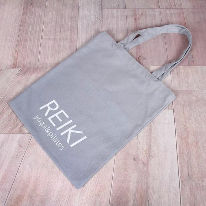 Heavy Duty Cotton Canvas Tote Bags Bulk With Laminated Full Color Printing