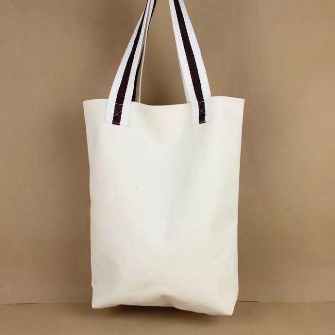 Embroidered Cotton Canvas Tote Bags Single Tree On The Surface Offset Printing