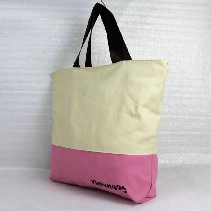Heat Transfer Grocery Cotton Canvas Tote Bags For Ladies Multi Color Optional