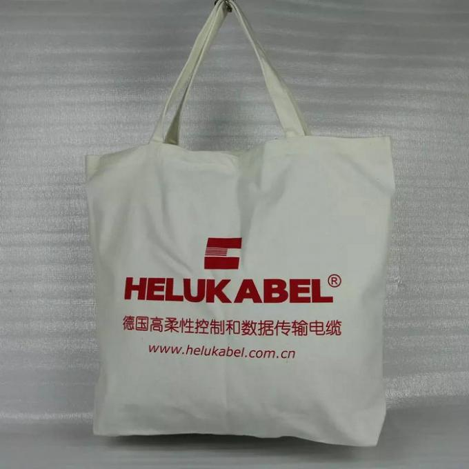 Large Plain Cotton Canvas Tote Bags Silk Screen Printing Hot Stamping
