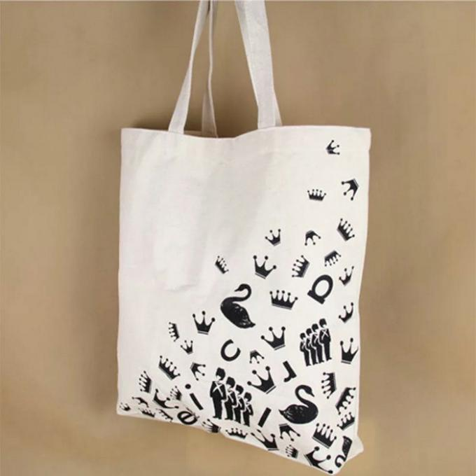 Elegant Square Canvas Tote Bags / Fashionable Small White Canvas Tote Bags