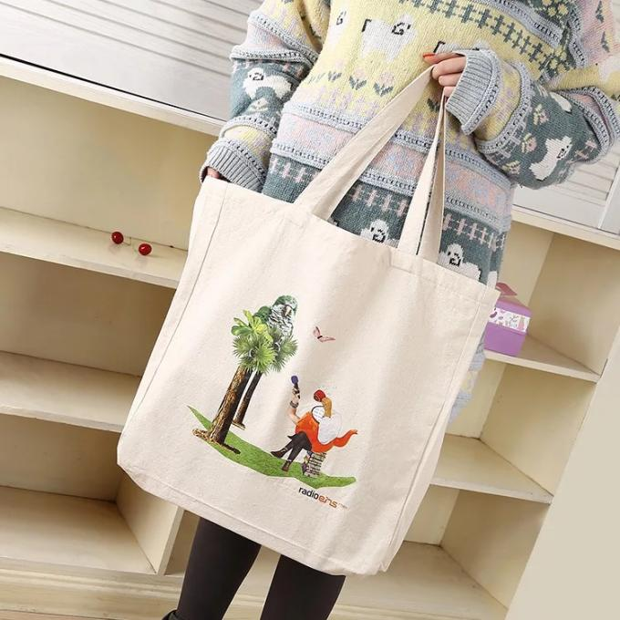 Handled Cotton Canvas Tote Bags